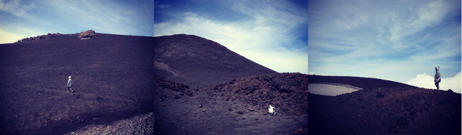 Our very own domesticated crater at Mt. Etna, Sicily, Italy, Photo by Saša Spačal