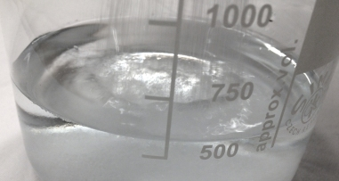 Add 300g of Rochelle Salt to 500ml of distilled water in a 2000ml glass container.